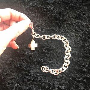 Tiffany & Co. Jewelry - Tiffany &Co. Cross Charm Braclet